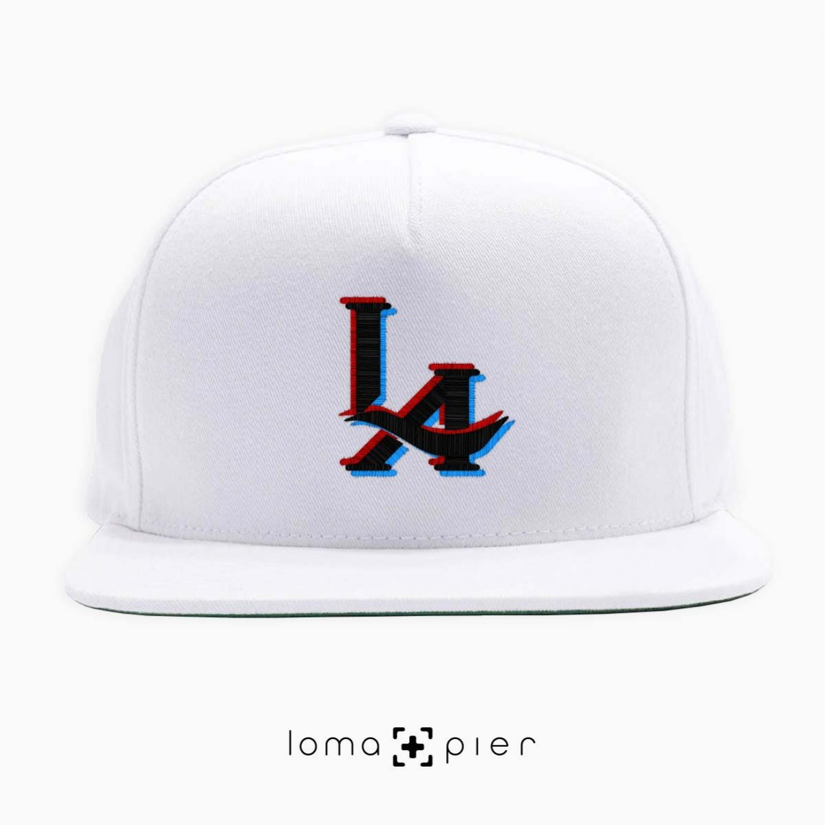 3D LA logo hat in white by loma+pier hat store
