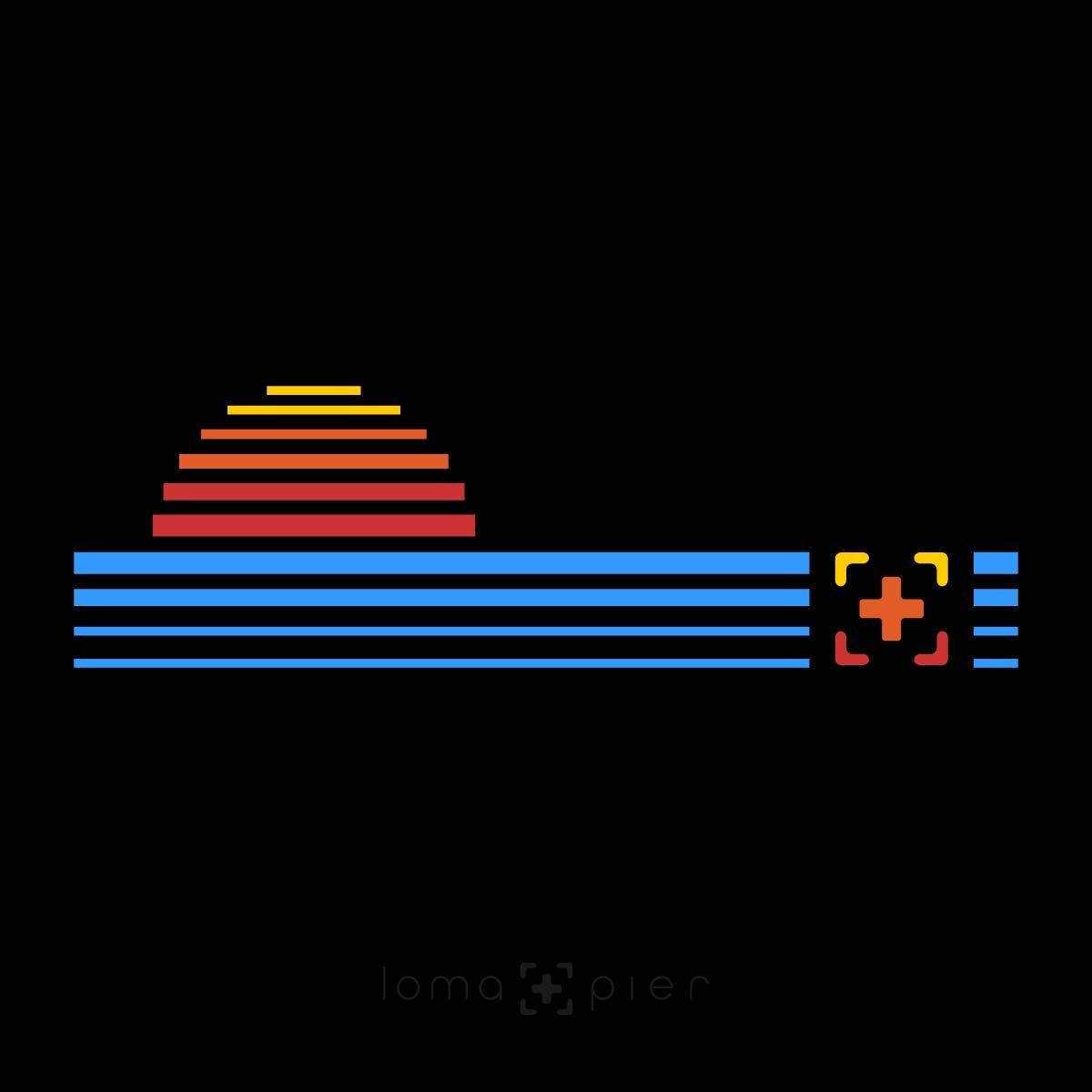 DIGITAL SUNSET icon design by loma+pier hat store