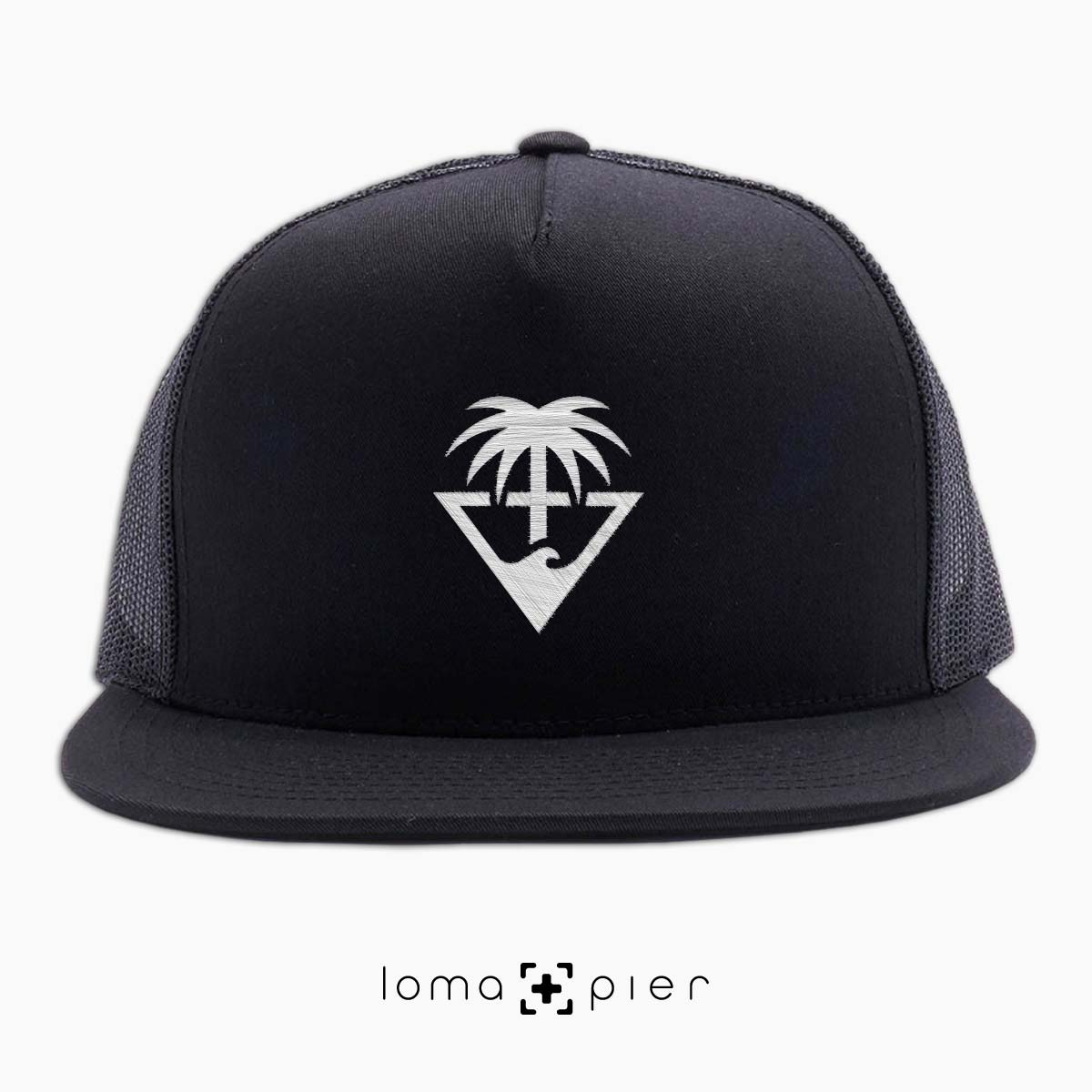 netback cap with OCEAN PALM TREE icon by loma and pier hat shop