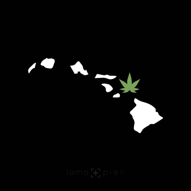 MAUI-juana hawaiian island weed design by loma+pier hat shop