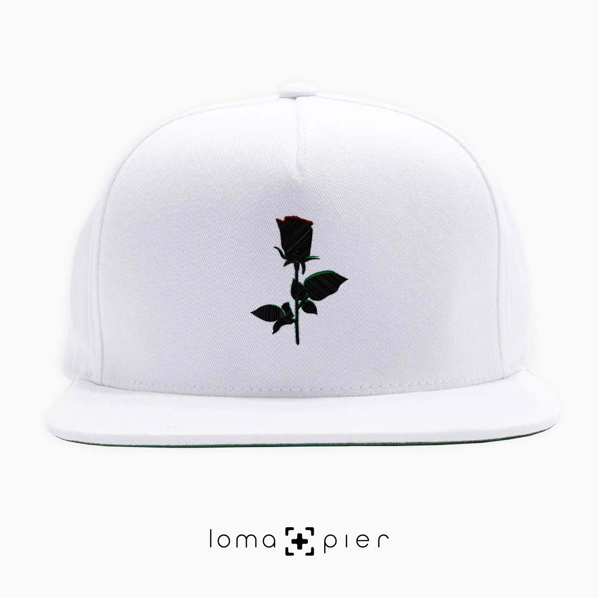 snapback cap with ROSE icon by loma+pier hat shop