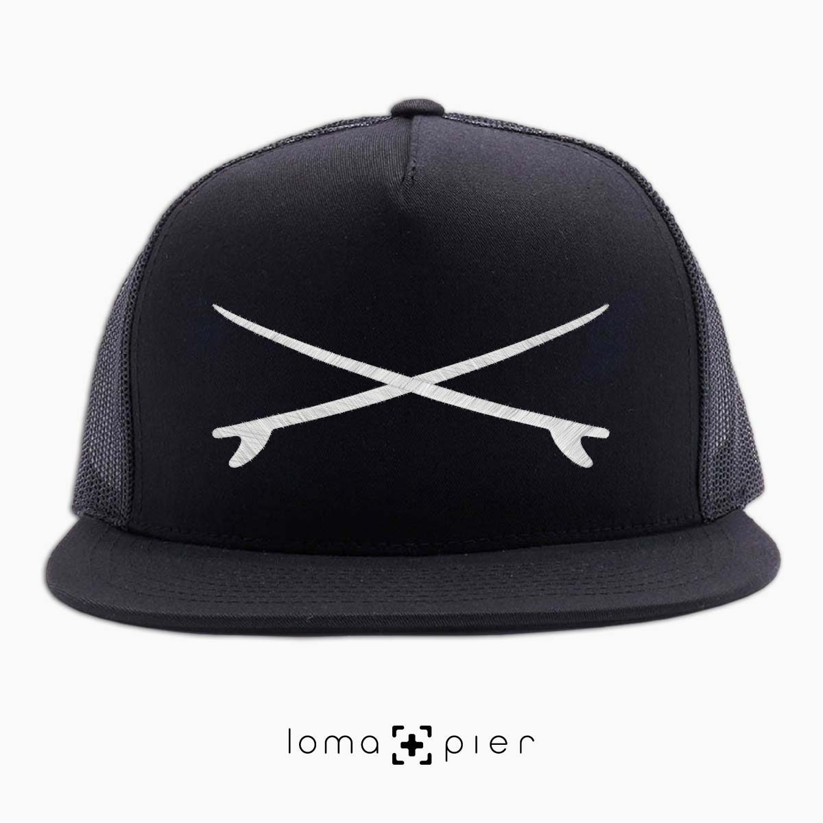 SURFBOARDS el porto beach netback hat in black by loma+pier hat store