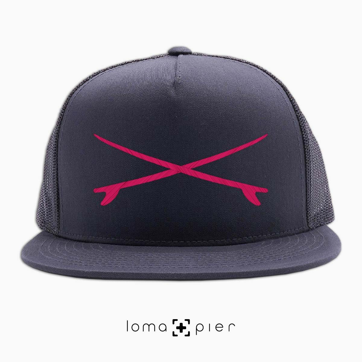 SURFBOARDS el porto beach netback hat in charcoal by loma+pier hat store