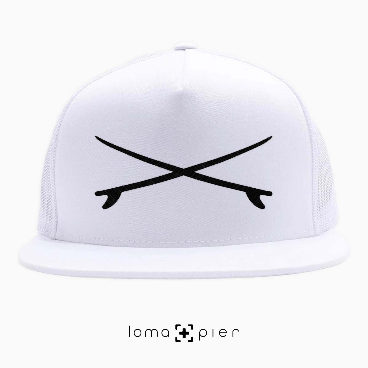 SURFBOARDS el porto beach netback hat in white by loma+pier hat store
