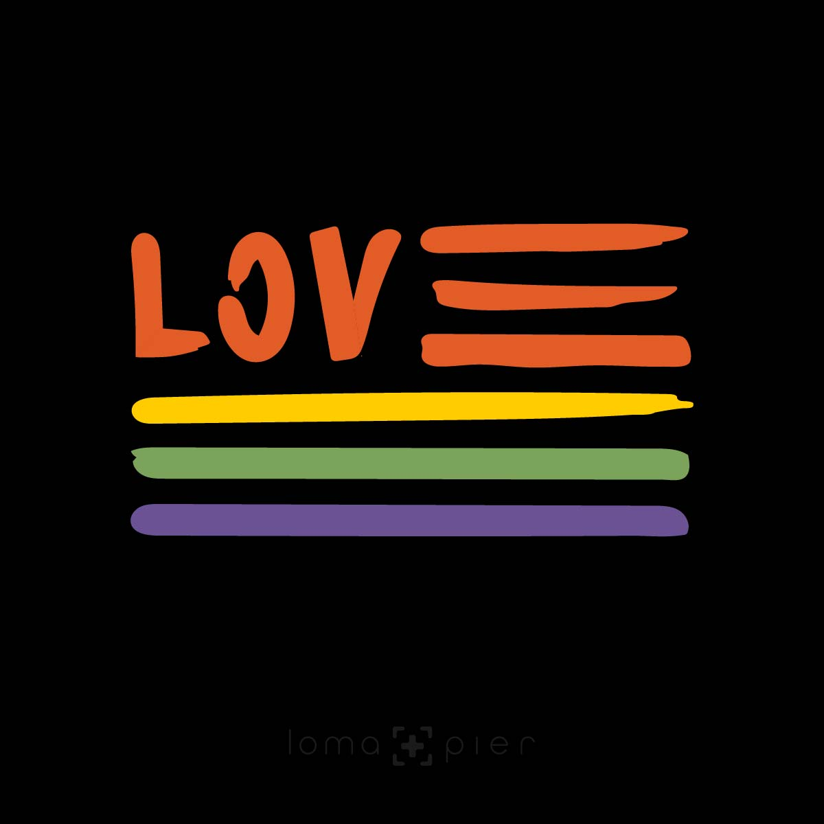 AMERICAN LOVE ​GAY PRIDE design by loma+pier
