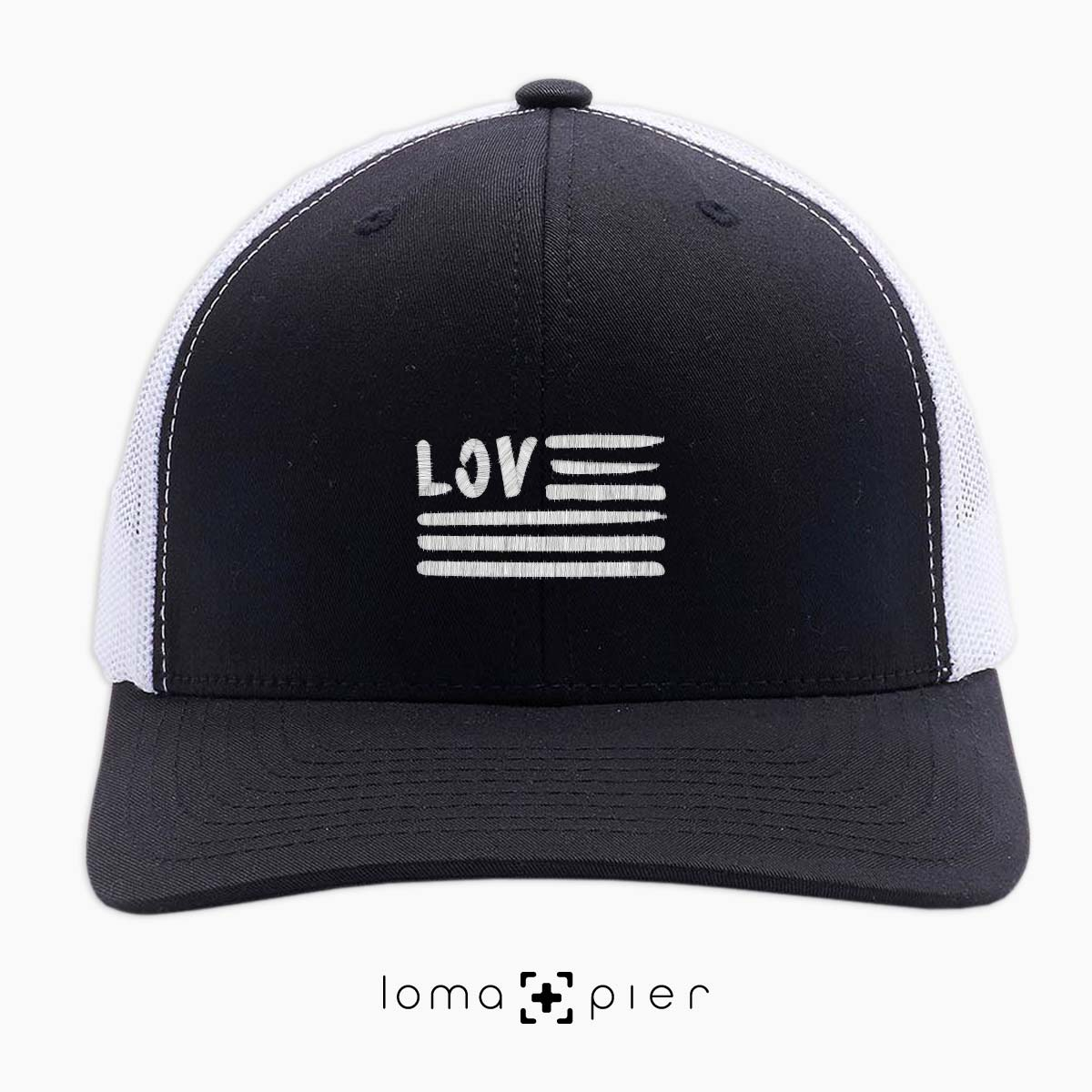 AMERICAN LOVE netback trucker hat by loma+pier hat shop