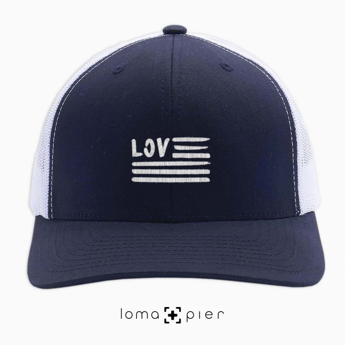 AMERICAN LOVE netback trucker hat by loma+pier hat store