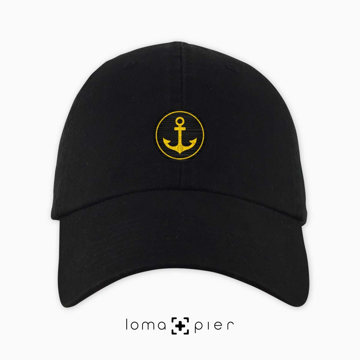 ANCHOR icon dad hat in black by loma+pier hat store