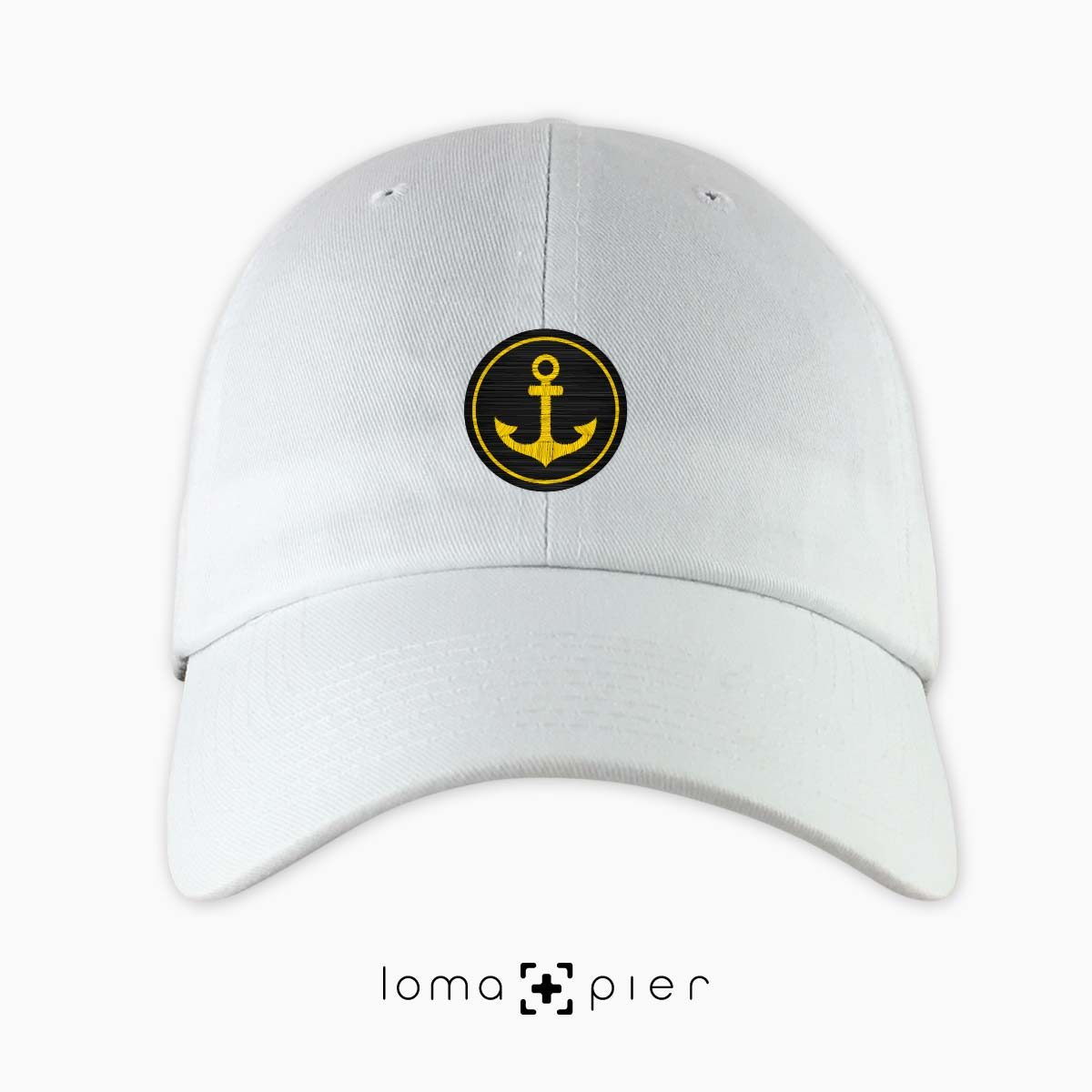 ANCHOR icon dad hat in white by loma+pier hat store