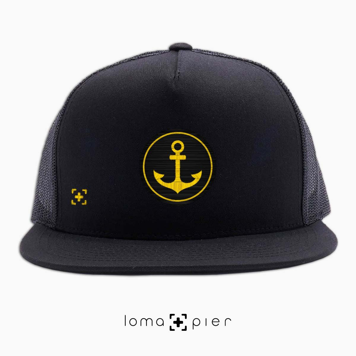 ANCHOR icon beach netback trucker hat in black by lomapier hat store