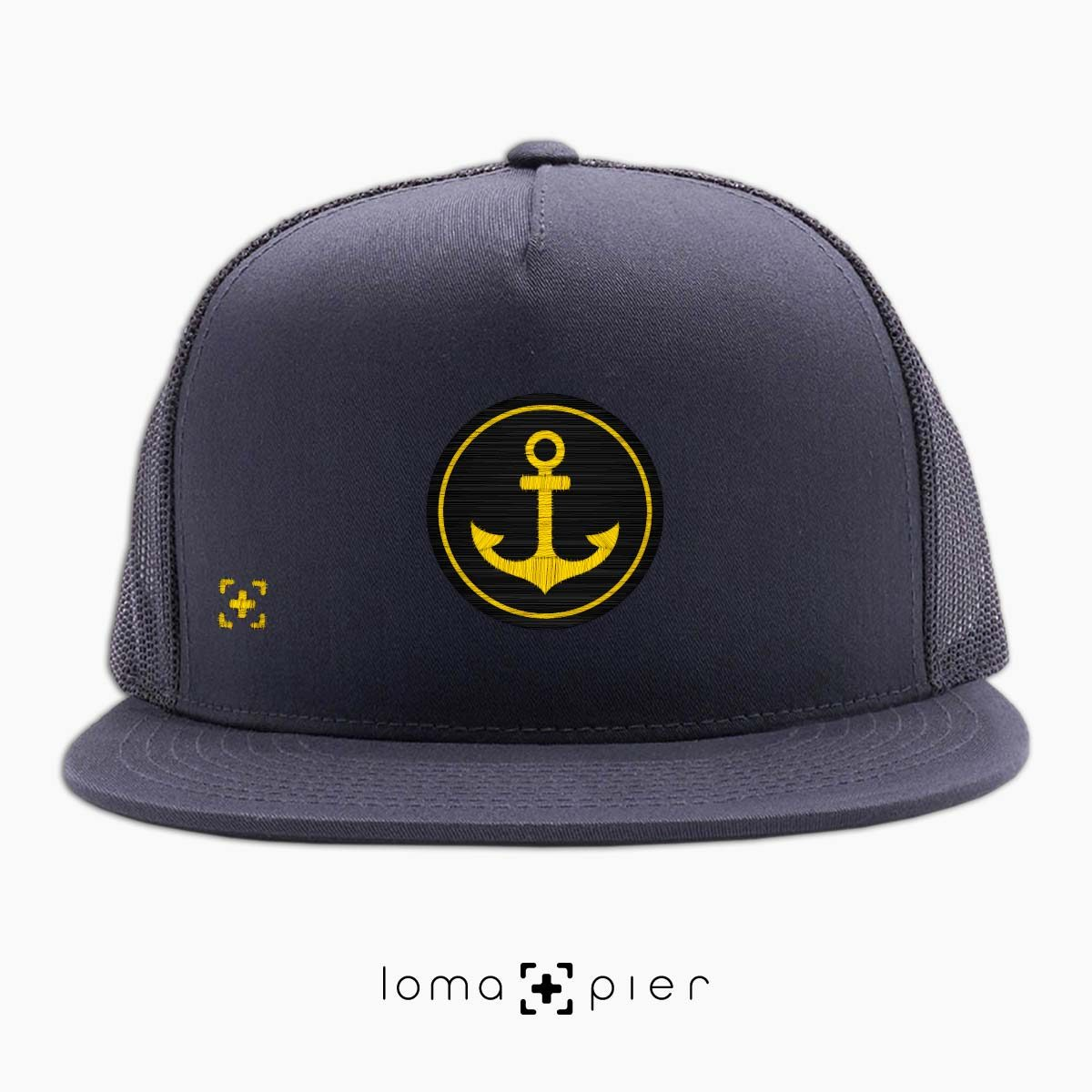 ANCHOR icon beach netback trucker hat in charcoal by lomapier hat store