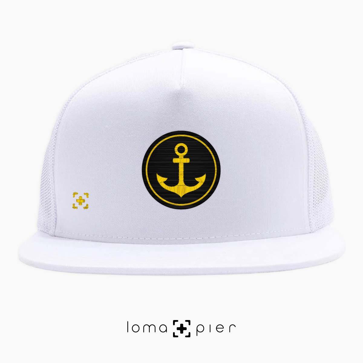 ANCHOR icon beach netback trucker hat in white by lomapier hat store