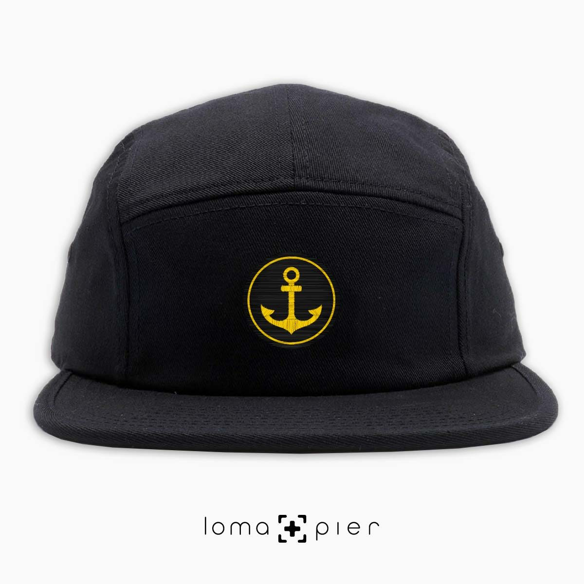 ANCHOR icon 5-panel hat in black by loma+pier hat store