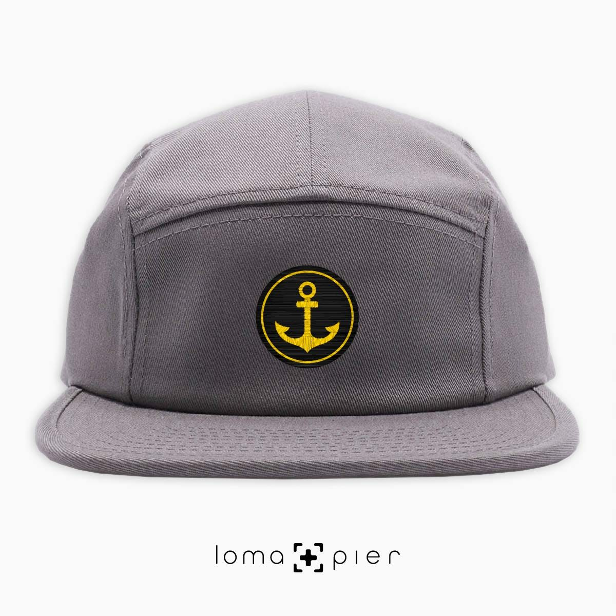 ANCHOR icon 5-panel hat in grey by loma+pier hat store