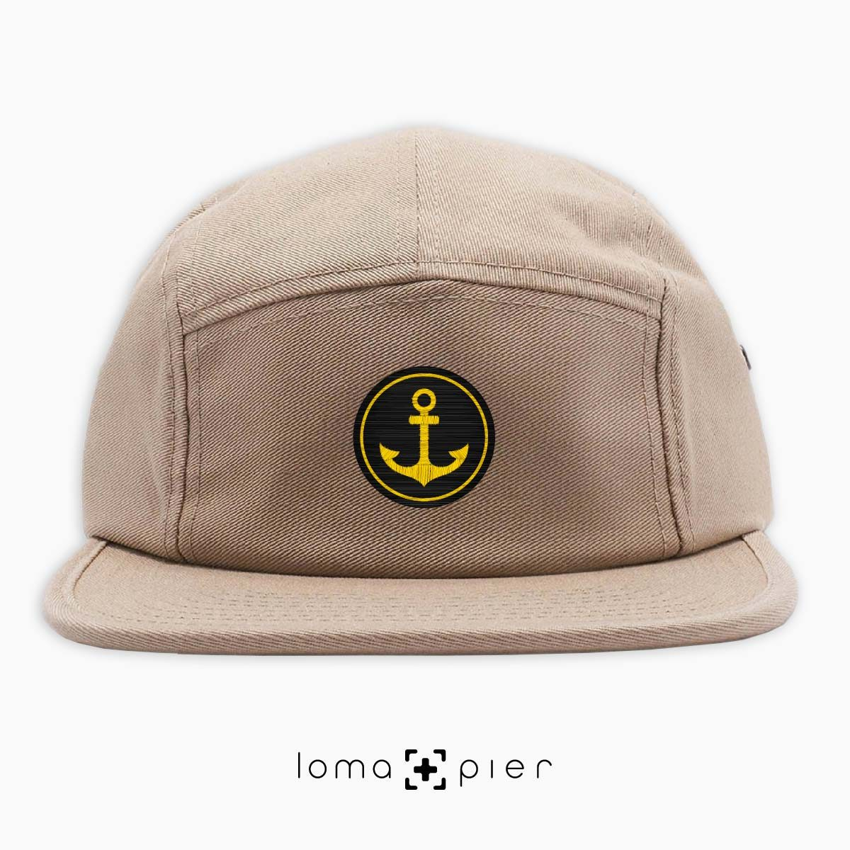 ANCHOR icon 5-panel hat in khaki by loma+pier hat store