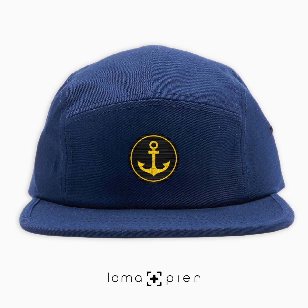 ANCHOR icon 5-panel hat in navy blue by loma+pier hat store