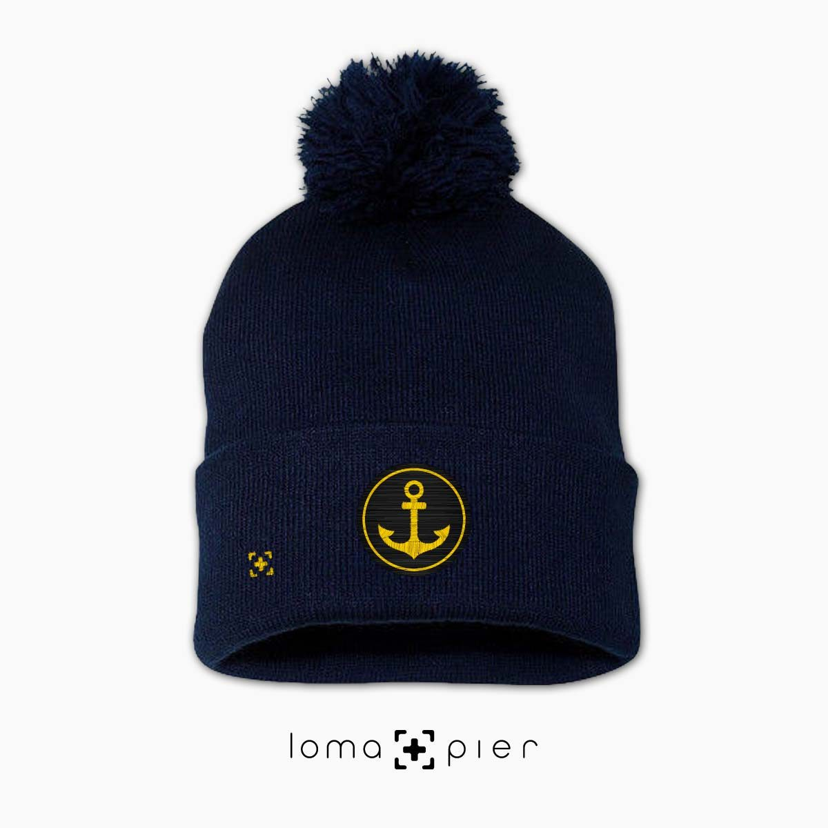 ANCHOR icon beanie in navy by loma+pier beanie store