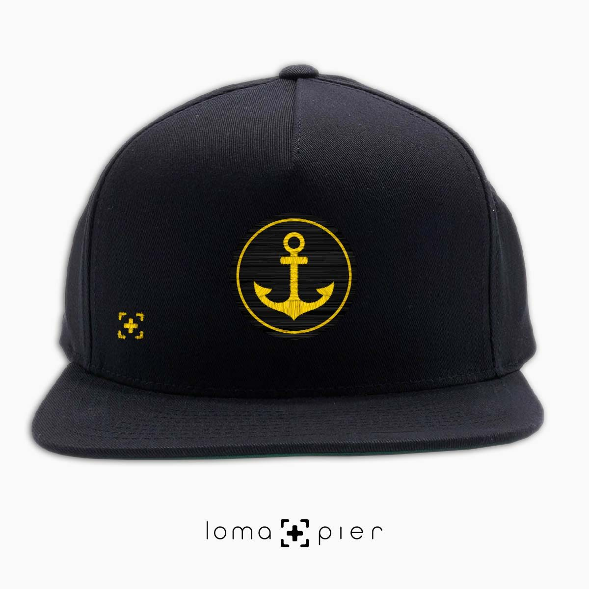 ANCHOR icon snapback hat in black by lomapier hat store
