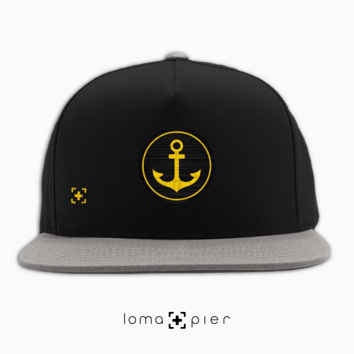 ANCHOR icon snapback hat in black/grey by lomapier hat store