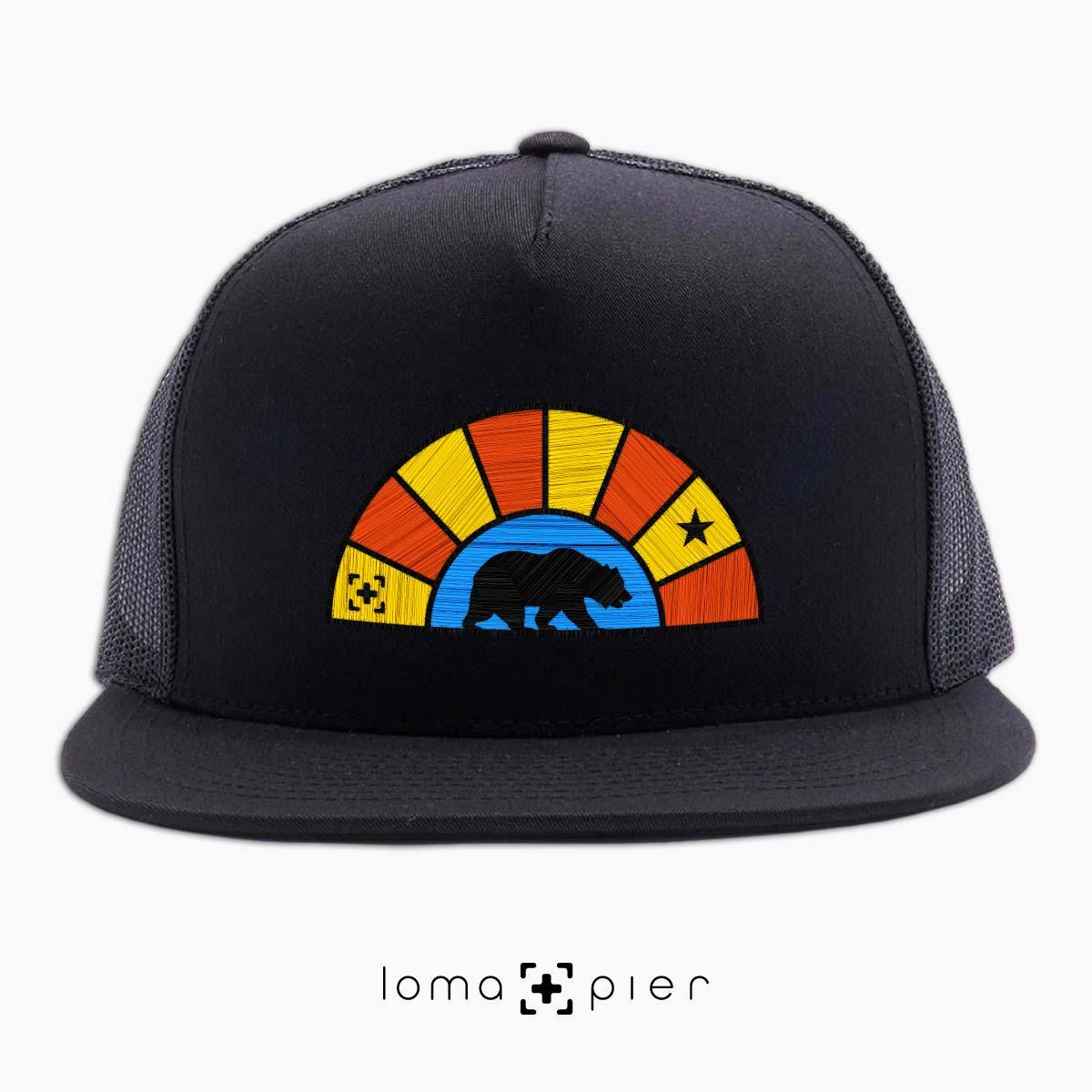 bear badge netback hat in black by lomapier hat store