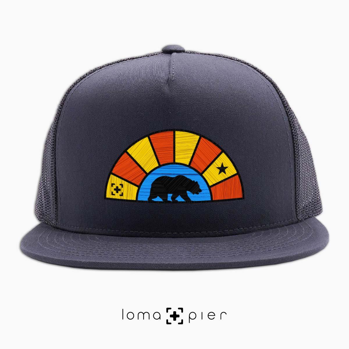 bear badge netback hat in charcoal by lomapier hat store