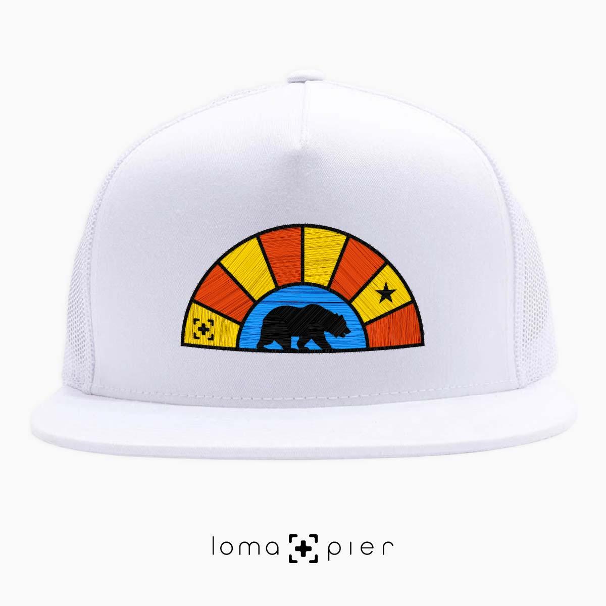 bear badge netback hat in white by lomapier hat store