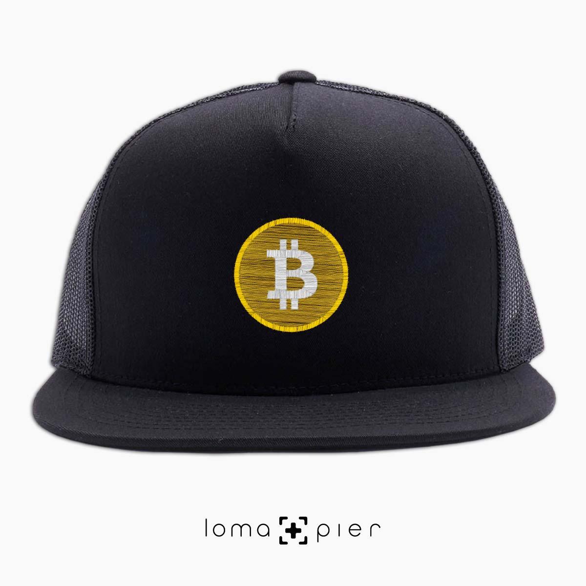 BITCOIN logo beach netback hat