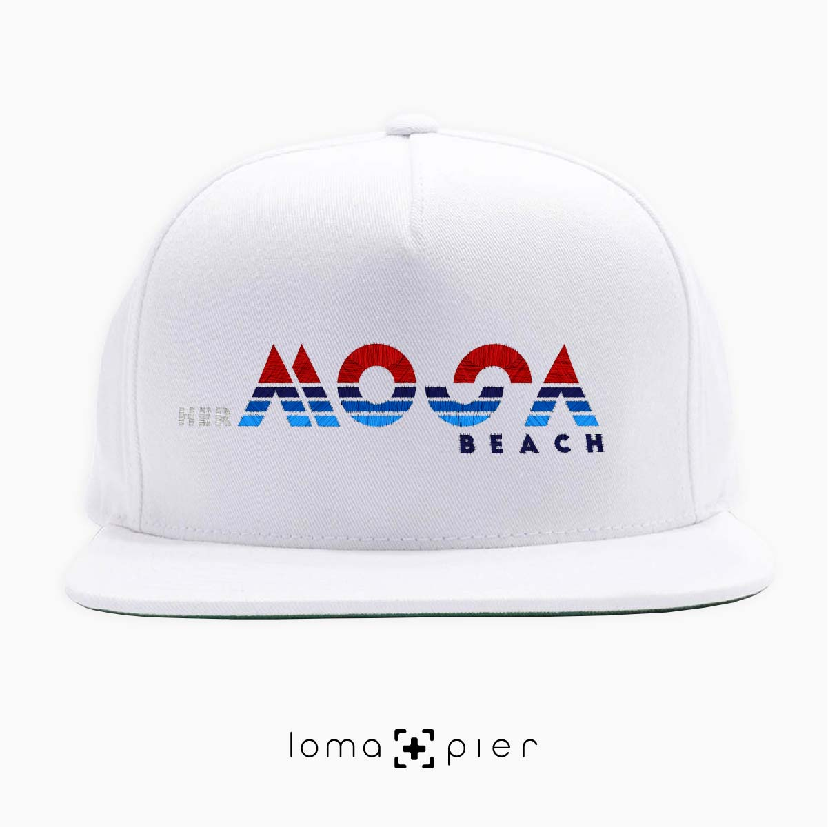 herMOSA beach snapback hat by loma and pier hat shop