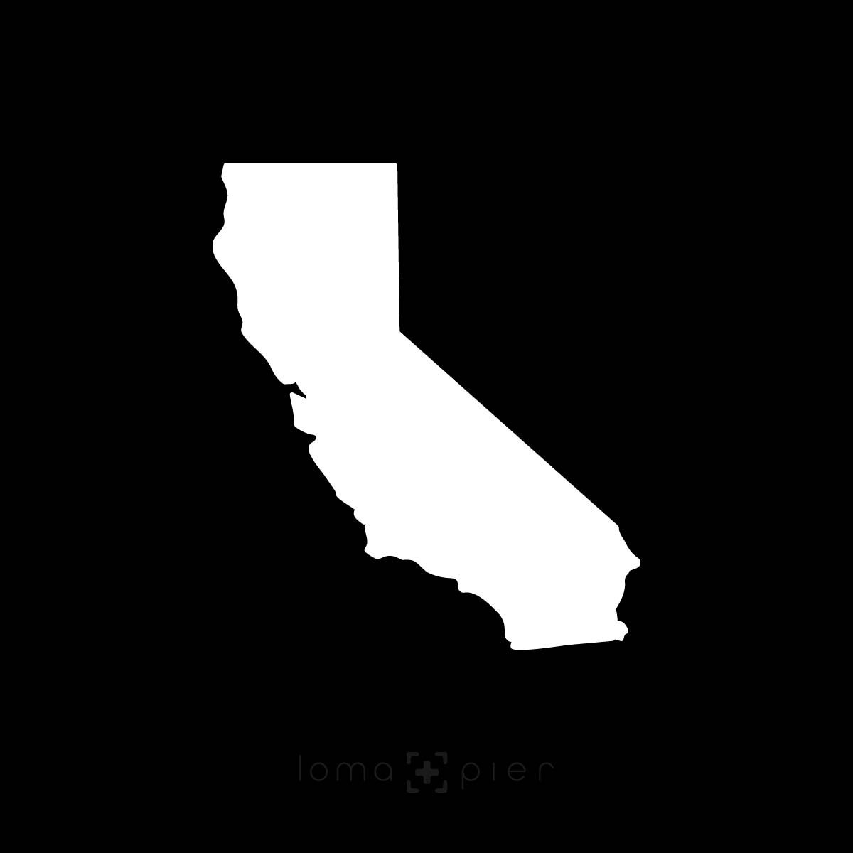 CALIFORNIA silhouette icon in the loma+pier hat store