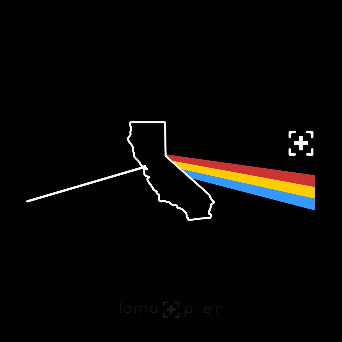 CALIFORNIA STATE PRISM album art design by loma+pier hat store