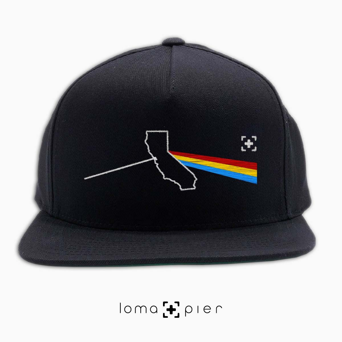 CALIFORNIA STATE PRISM album art snapback hat in black by loma+pier hat store