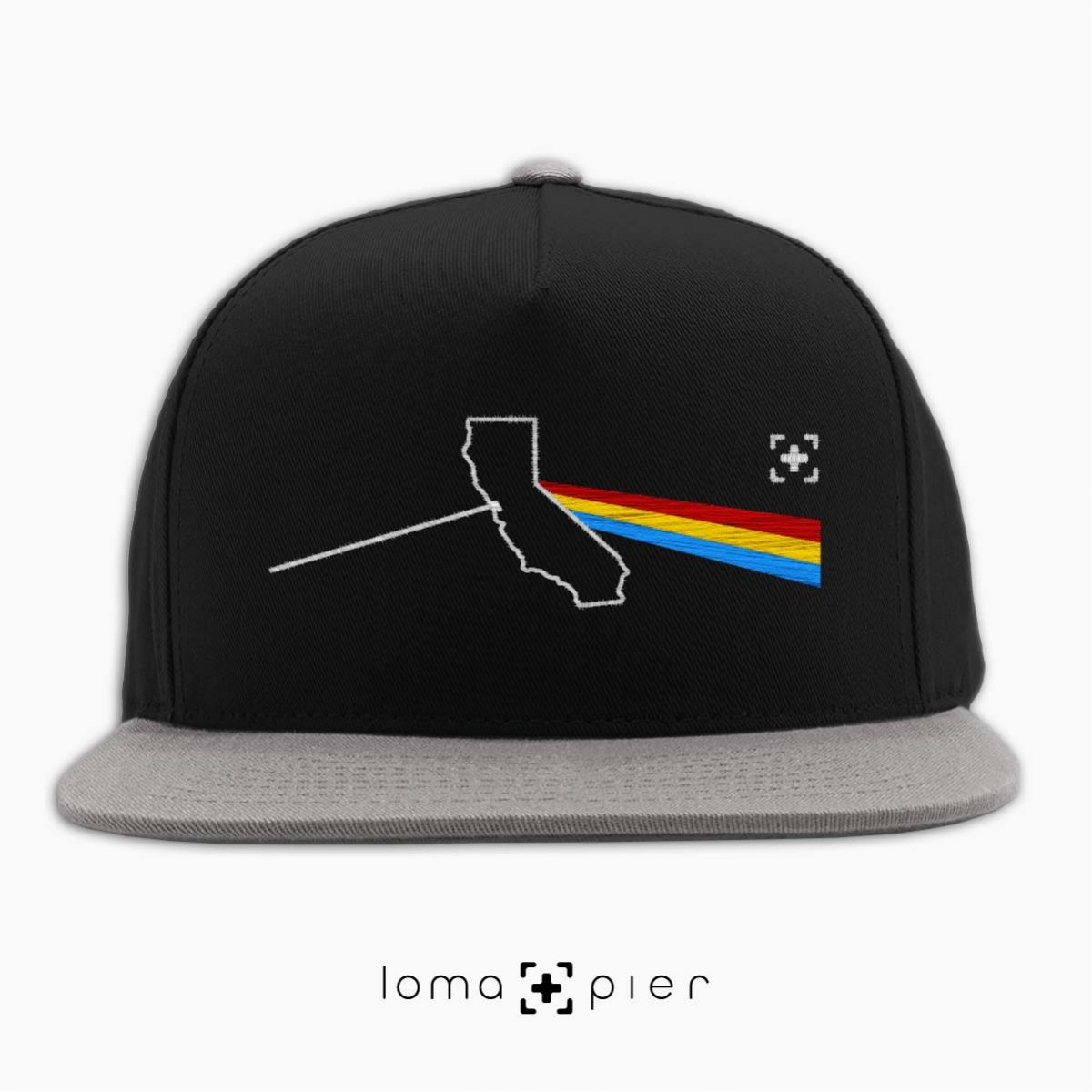 CALIFORNIA STATE PRISM album art snapback hat in black/grey by loma+pier hat store
