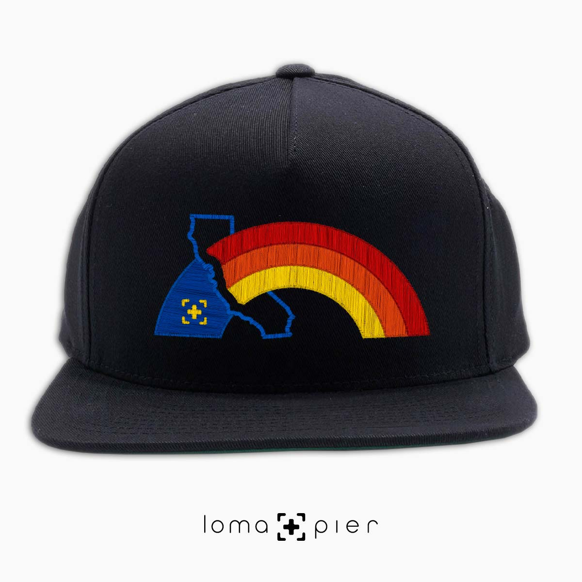 WESTCOAST RAINBOW gay pride hat in black by loma+pier hat store