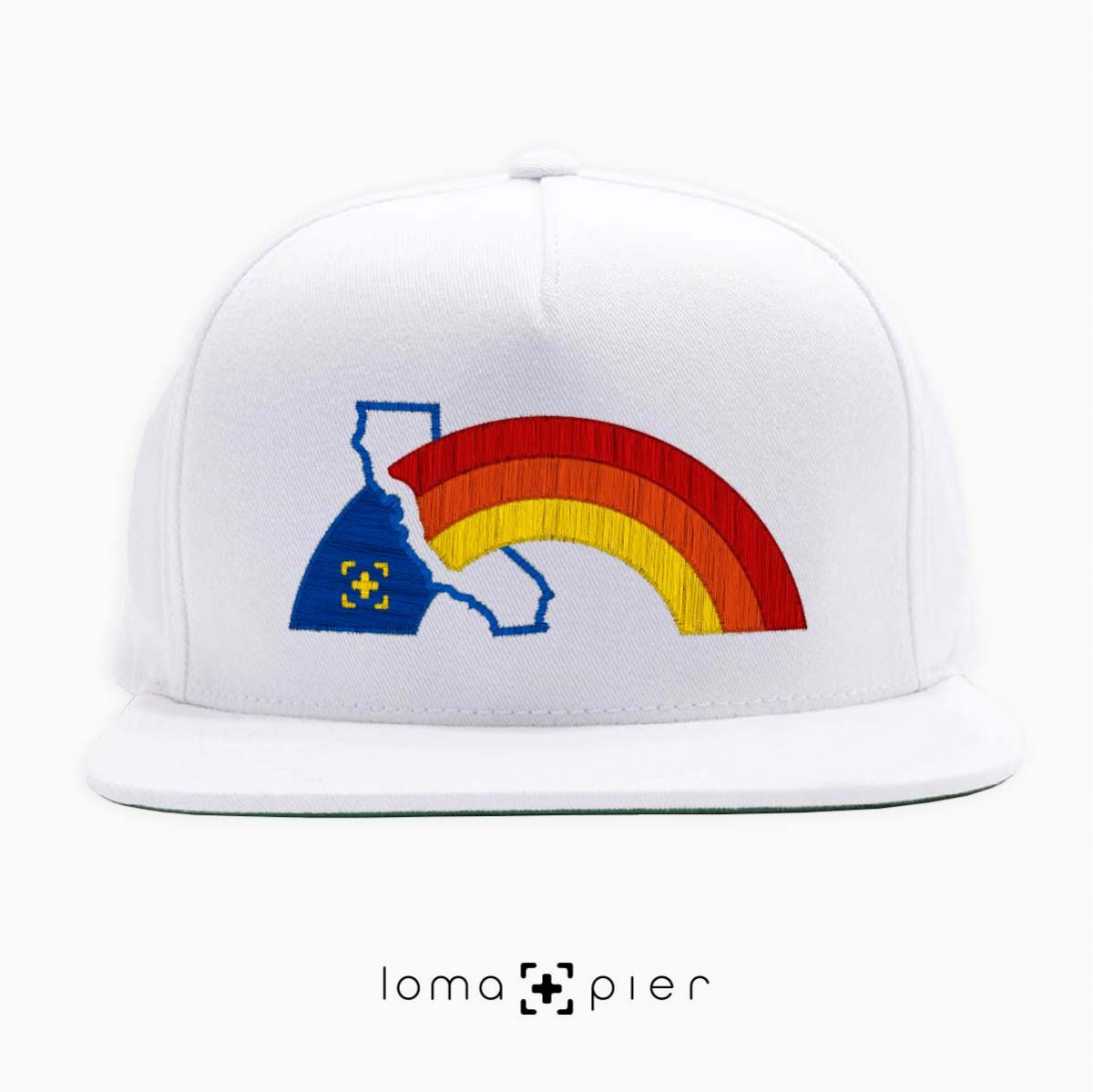 WESTCOAST RAINBOW gay pride hat in white by loma+pier hat store