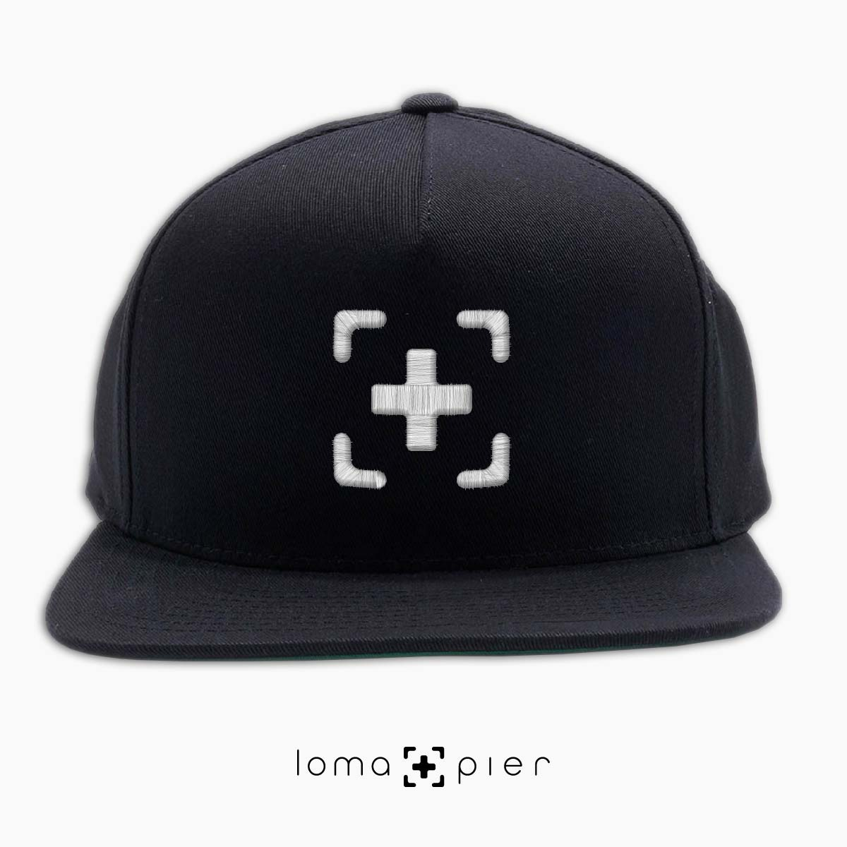 classic snapback cap in black by loma+pier hat shop