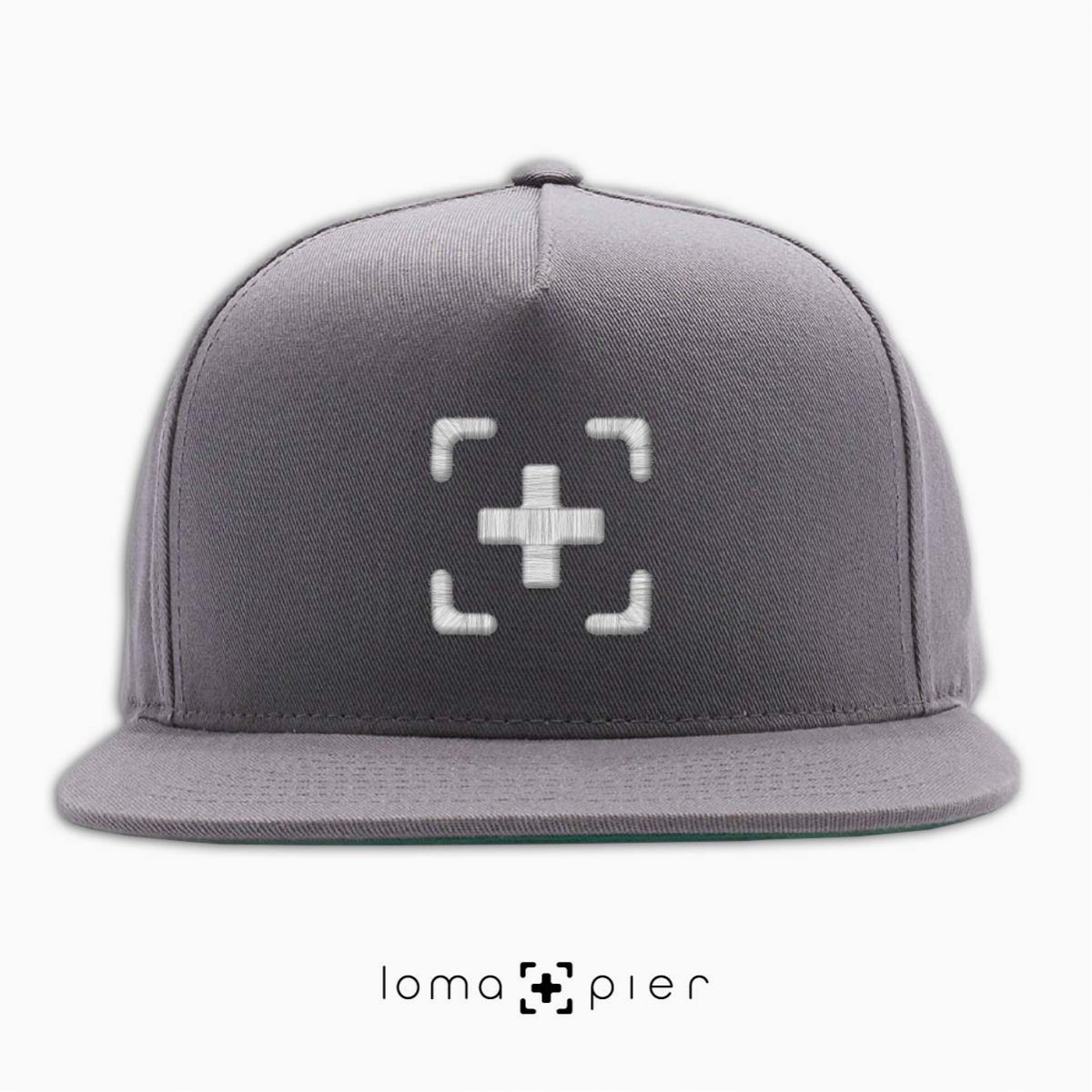 classic snapback cap in grey by loma+pier hat shop