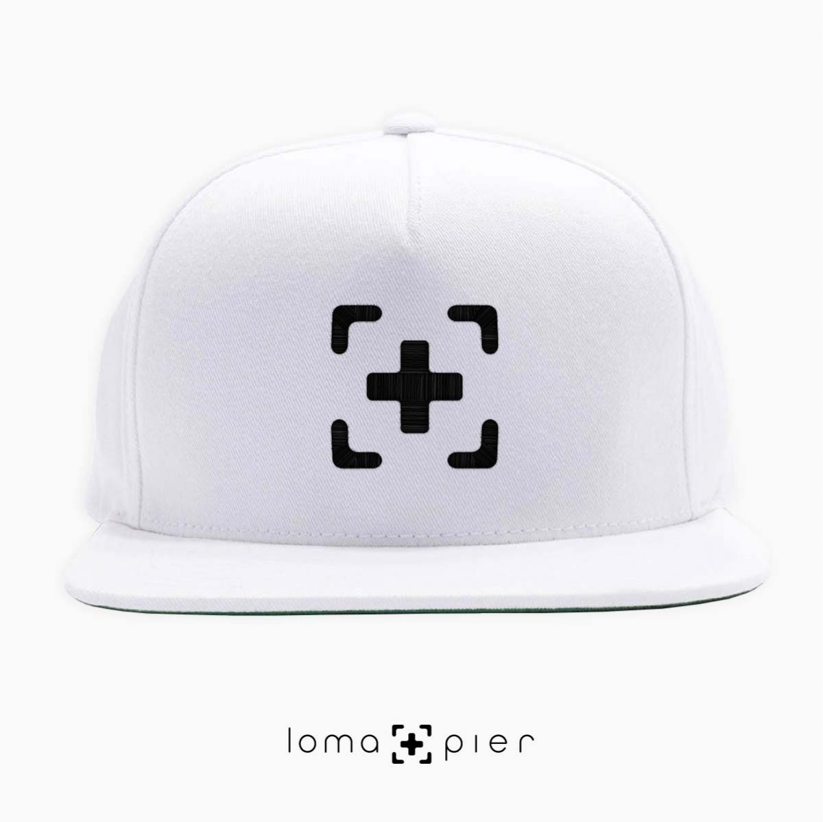 classic snapback cap in white by loma+pier hat shop