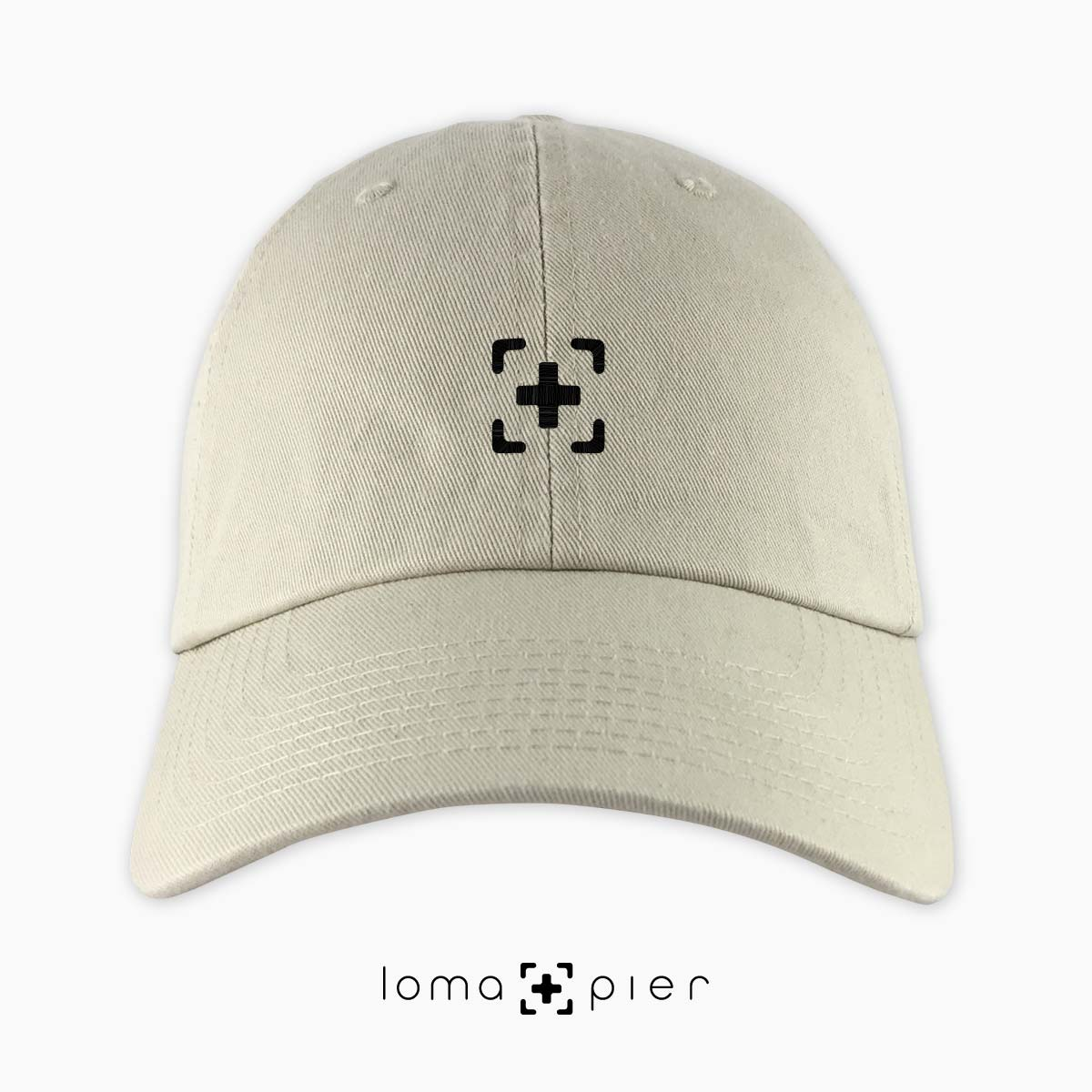 dad hat with icon in khaki by loma+pier hat store
