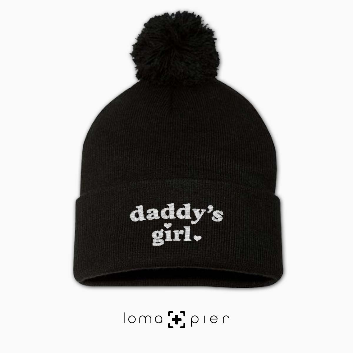 DADDY'S GIRL pom pom beanie cap by the loma+pier hat shop