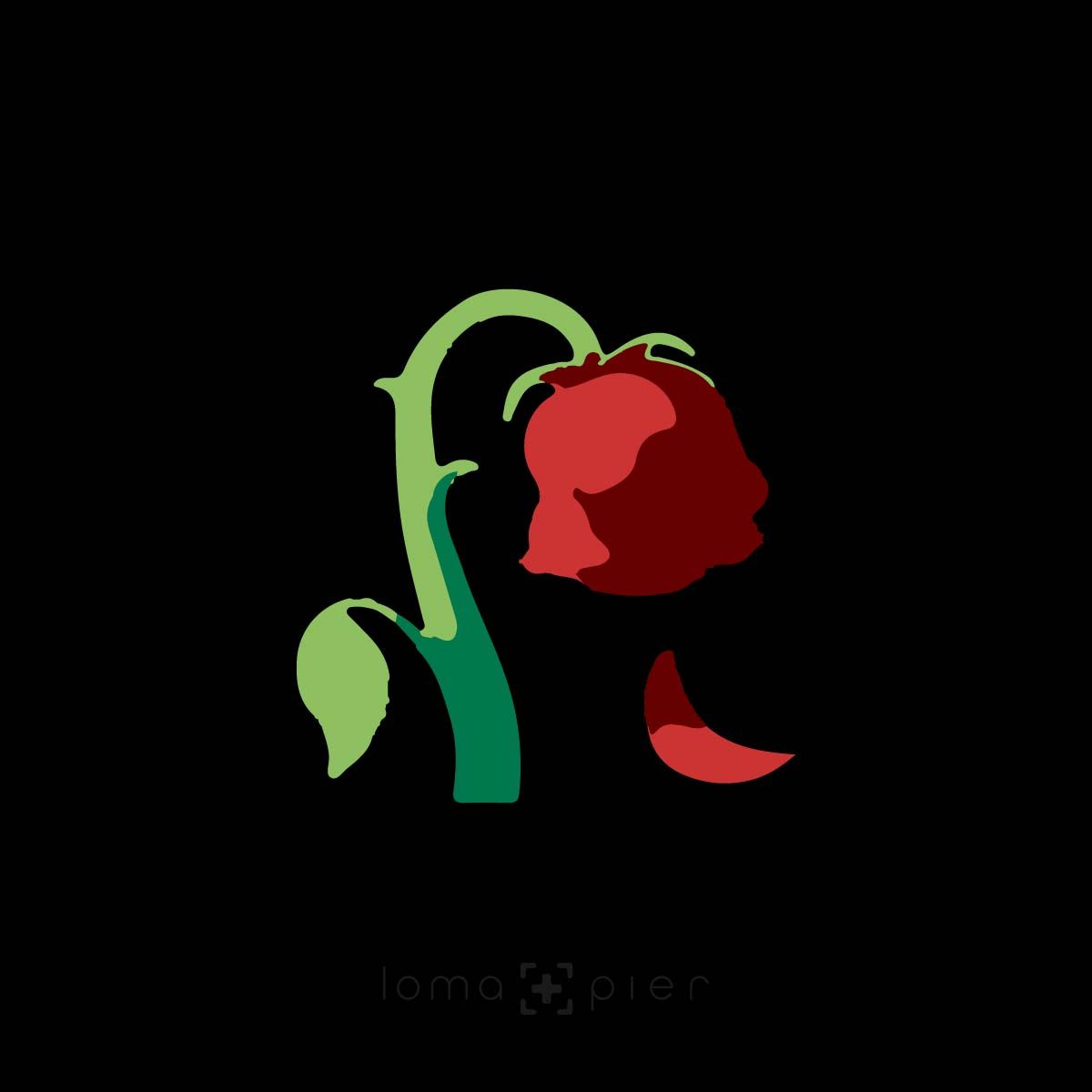 DYING ROSE EMOJI icon in the loma+pier hat store