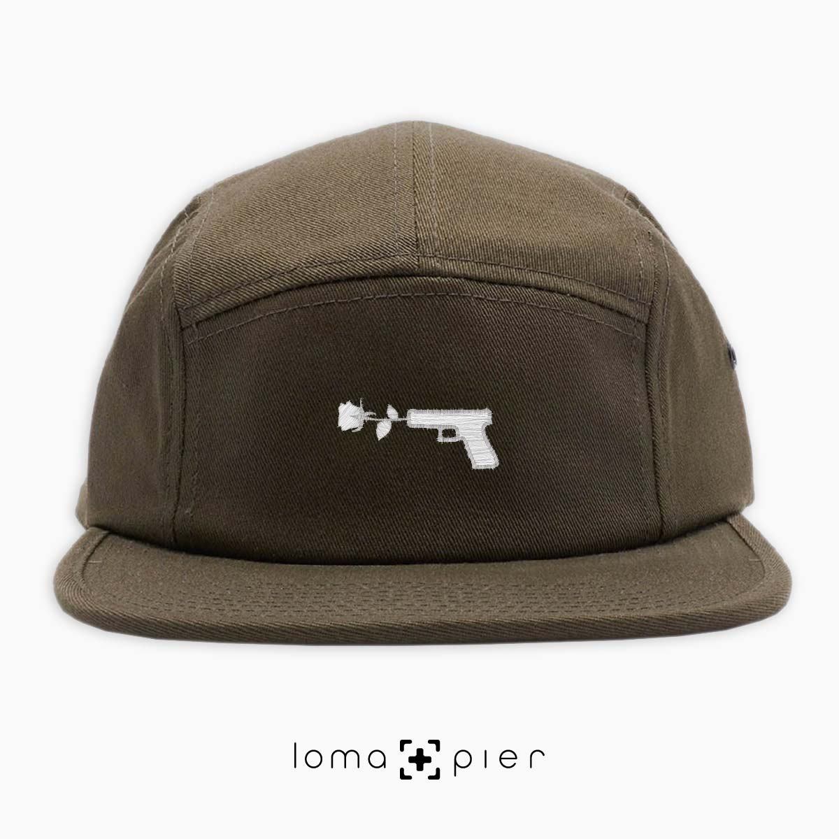 cotton 5-panel hat with GUN FLOWER icon by loma+pier hat shop