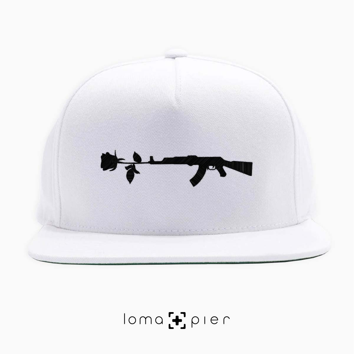 snapback cap with GUN and ROSE icon by loma+pier hat shop