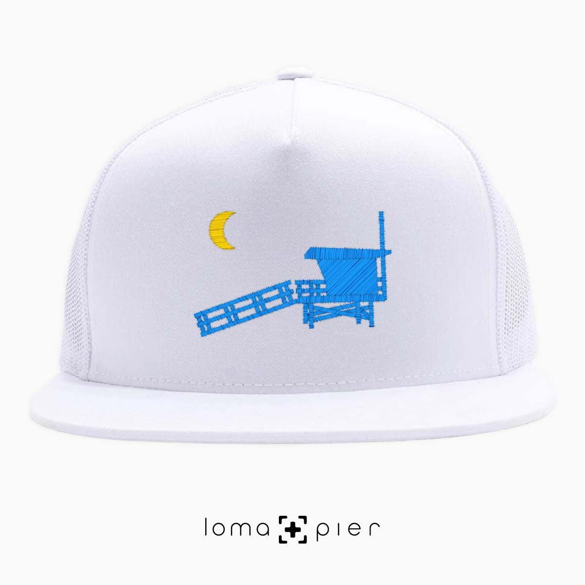 hermosa beach LIFEGUARD TOWER icon white netback trucker by loma+pier hat store