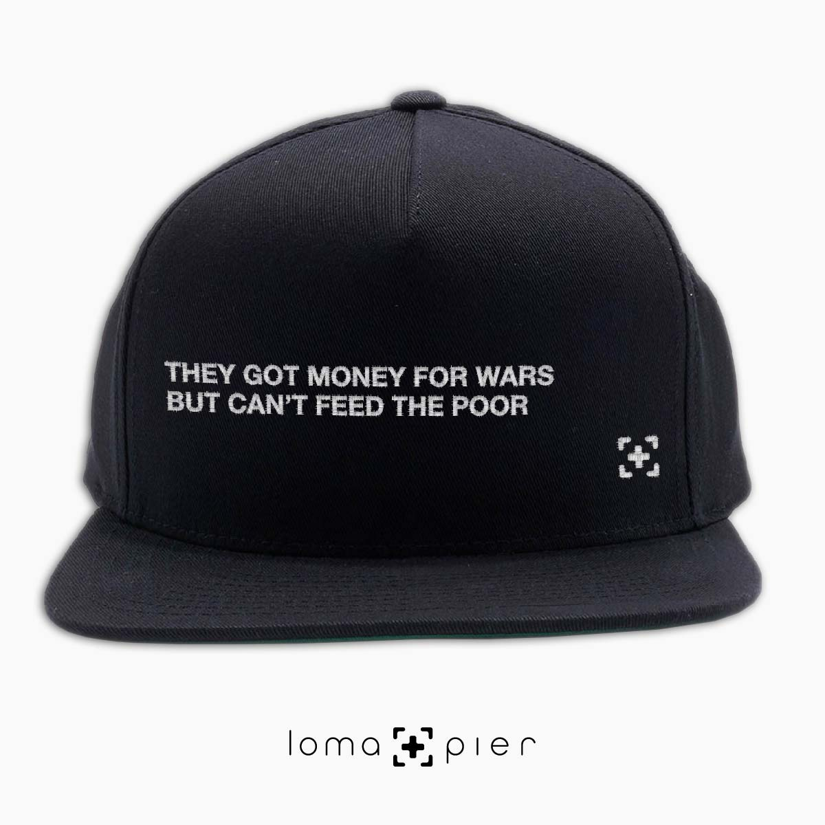 hip hop hat with rap lyrics at the loma and pier hat shop