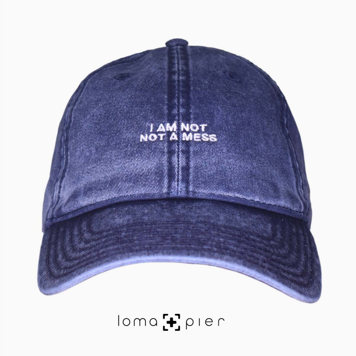 I AM NOT NOT A MESS vintage dad hat at the loma+pier hat store