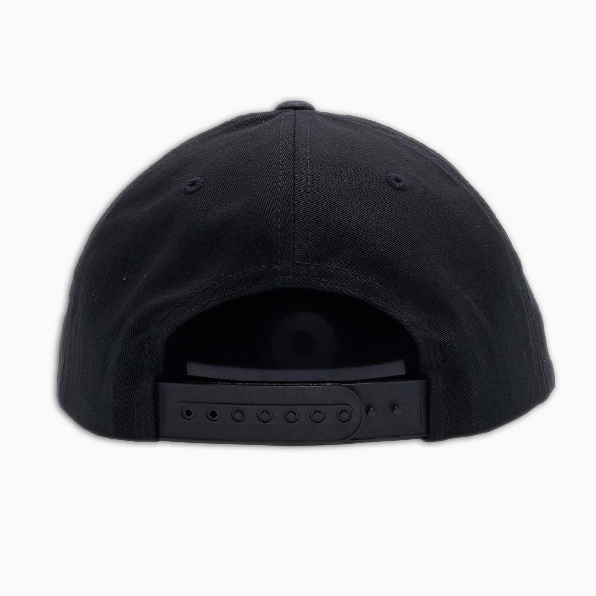 back of black classic snapback hat by loma+pier hat store