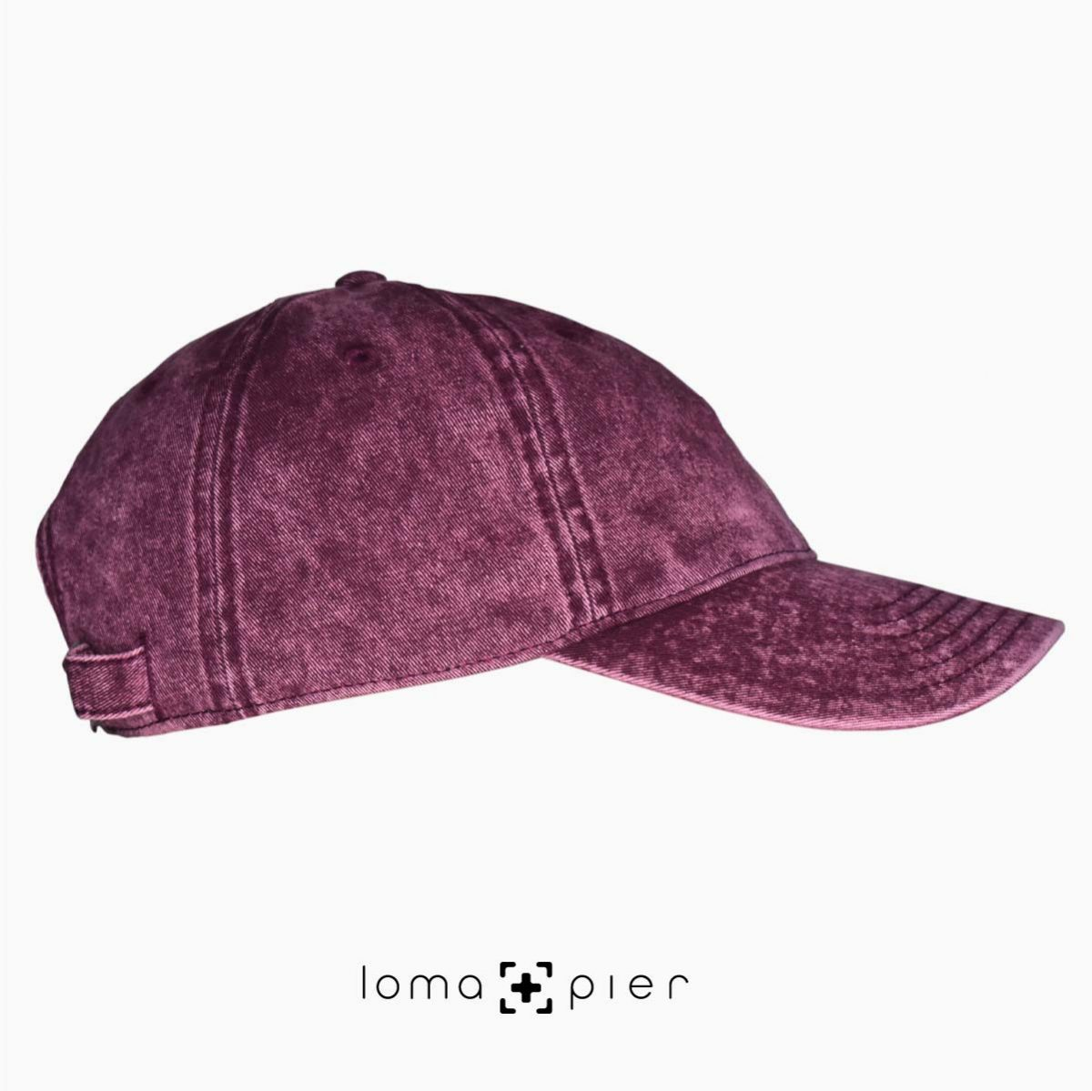 maroon washed out vintage dad hats right
