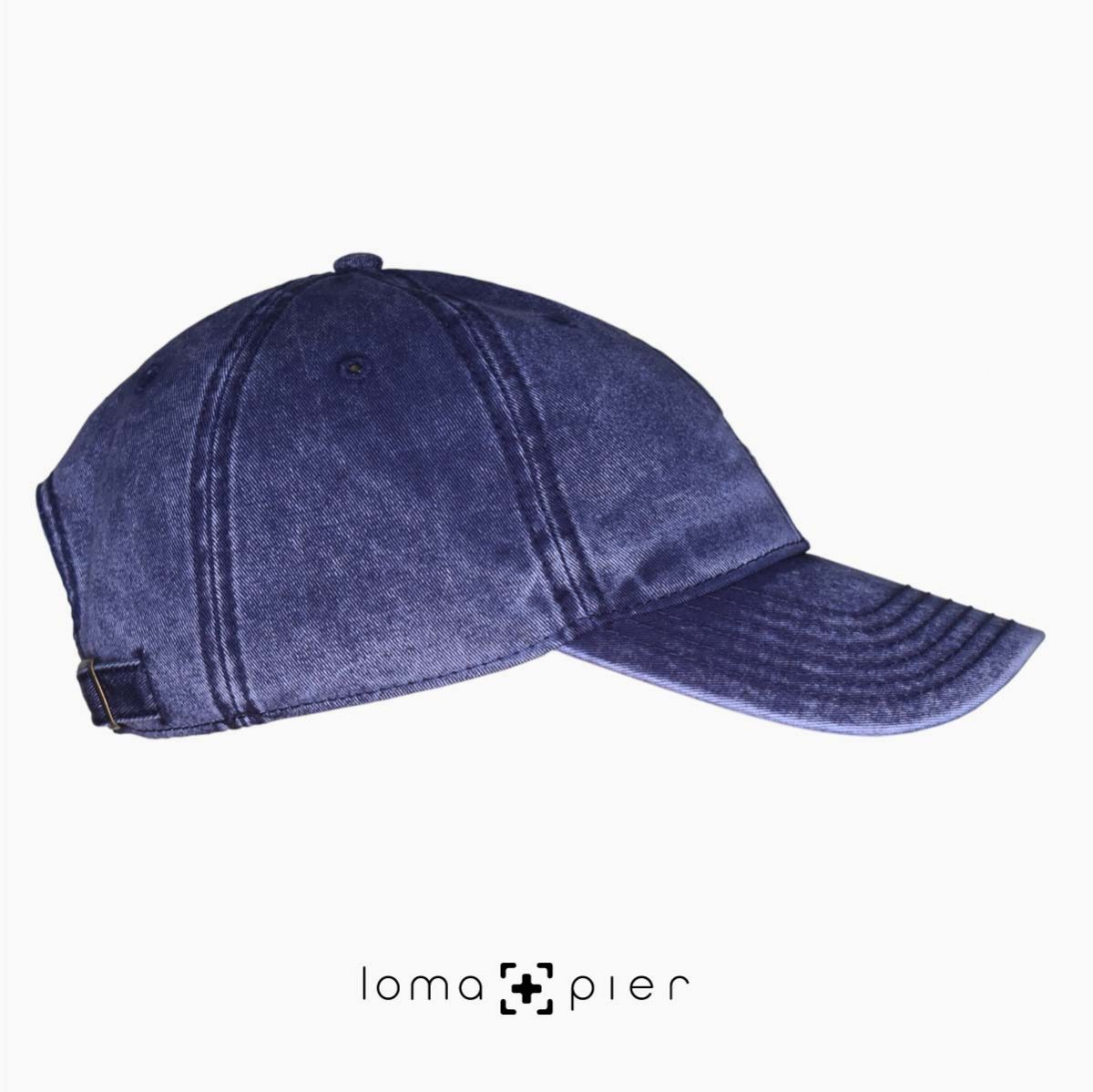 navy washed out vintage dad hats right