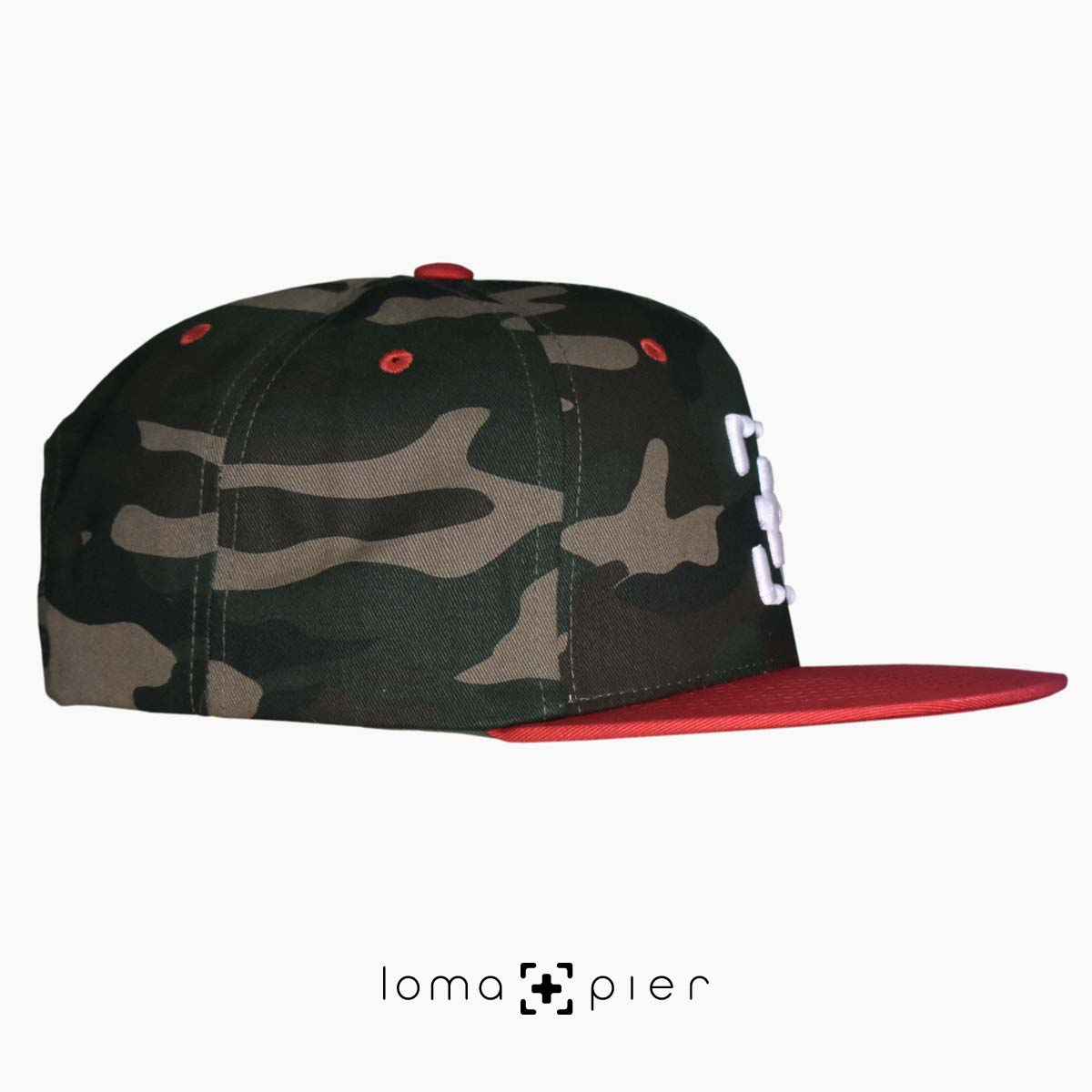 limited edition camo hats with loma and pier icon