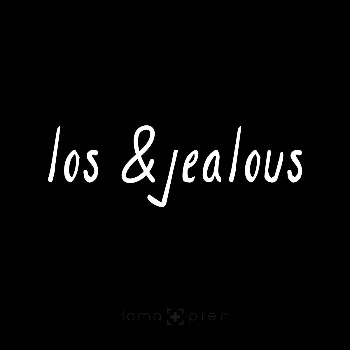 LOS &JEALOUS typography design by loma+pier hat store